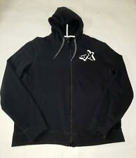 Armani Exchange Black Zip Up Hoodie Size Large