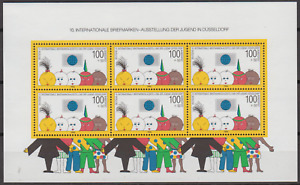GERMANY 1990 STAMP CONGRESS MINATURE SHEET MINT NEVER HINGED
