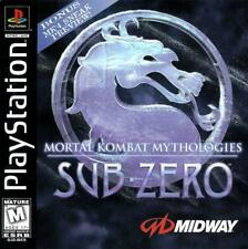 Mortal Kombat Mythologies Sub Zero PS1 Great Condition Fast Shipping