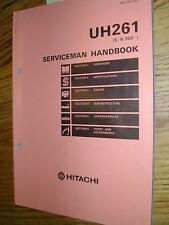 Hitachi UH261 SERVICEMEN HANDBOOK SERVICE SPECS MANUAL EXCAVATOR HYDRAULIC GUIDE