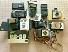 Job Lot of Compact Cameras and Flash Units