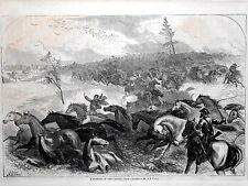 "Harper's Weekly Page U.S. Civil War ""A Stampede of Army Horses"" 1864"