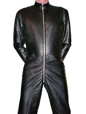 leather catsuit black suit Overall black leather pants trousers Lederoverall