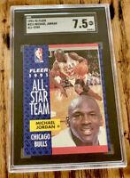 1991-92 Fleer Michael Jordan All Star Card #211 SGC 7.5 Near Mint+ Chicago Bulls