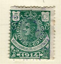 España; Guinea 1914 Antiguo Retrato Fine Used 5c. valor