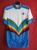 Maillot cycliste vintage Castelli couleur champion du monde 80'S Jersey - 6 / XL