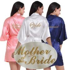 Women Wedding Robe Satin/silk robe Bridesmaid Bride maid of honor Dressing Gown