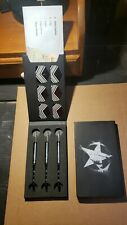Steel tip dart set. Brand new never used. Three darts with the tail fin's