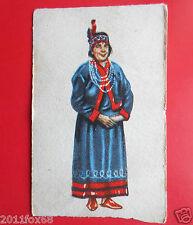 figurine costumi delle due americhe 69 indiana micmac canada figurines cromos z