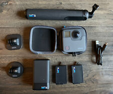 GoPro Fusion 360 - 2 Batteries, Charger, Case, Cable, Grip and 3M Mounts - MINT