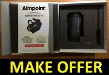 Factory New 2017 Aimpoint T-2 T2 2MOA NV Red Dot Sight No Mount 200180