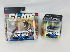 GI JOE Combat Heroes action figure lot Cobra Commander bazooka Firefly