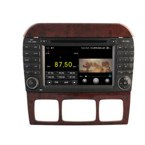 """Car DVD GPS Radio Navi for Mercedes Benz S Class W220 1998 - 2006 7"""" Android 10"""