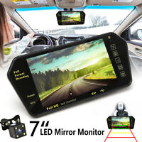 7'' LCD Car Rear View Camera Mirror Monitor MP5 Player USB With IR Reversing *