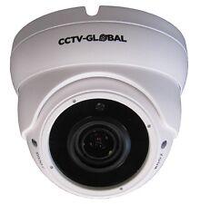 1080P WHITE HD TVI AHD CVI ANALOGUE CCTV DOME CAMERA 2.8-12mm ZOOM LENS 30m IR