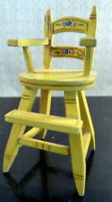RARE Vintage TYNIETOY PAINTED HIGH CHAIR 1:12 Dollhouse Miniature