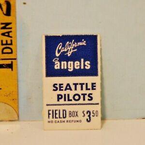 1969 California Angels vs Seattle Pilots Baseball Ticket Stub Vintage Sports #B*