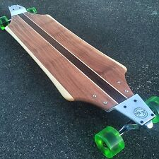 Longboard with Drop Plates made of Solid Wood - Banzai