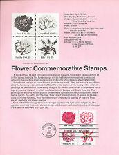18c FLOWERS 1981 SOUVENIR PAGE SCOTT # 1876-1879 SP531 CV $4.00 FDC
