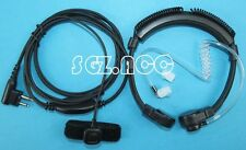 Throat Mic Headset Adjustable Band Size for Motorola Radio Su220 Vhf/uhf Spirit