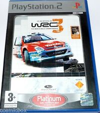 PlayStation 2 jeu video WRC 3 Fia World Rally Championship platinum console ps2