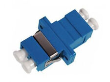 LC Duplex SM Adaptor, Flange, Blue Housing with Zirconia sleeve