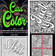 Adult coloring book Stress relief Relaxation Cuss Word Swear single sided