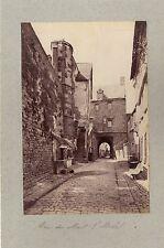 Mont-Saint-Michel 2 Photos albuminées Vintage vers 1890