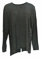 Cuddl Duds Women's Top Sz XL Stretch Keyhole Front Long Sleeve Gray A381690