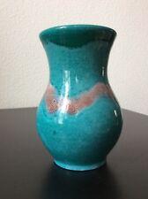 Vase en céramique émaillée vert émeraude et brun signé Accolay début XXème