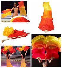 1.8m Long Joli Éventail Danseur Orientale Soie Bamboo Voile Fan Flexible Danse