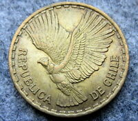 CHILE 1963 So 10 CENTESIMOS, FLYING ANDEAN CONDOR