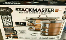 Gotham Steel Stackable Pots and Pans Stackmaster 10 Piece Cookware Set Complete