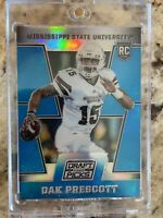 2016 Dak Prescott Prizm Draft Picks BLUE PRIZM RC #125 Dallas Cowboys RARE SP