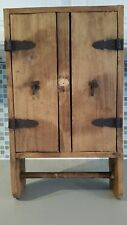 Rustic Primitive Style Pine Wood Wall Cabinet w/ Towel Bar Made in Mexico