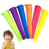 6 Pcs/set Silicone Popsicle Mold Ice Lolly Molds Ice Cream F0B7 Snack Maker N5L1