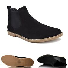 Mens Suede Chelsea Boots Casual Smart Slip On Chukka Desert Ankle Shoes UK Sizes