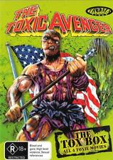 THE TOX BOX - THE TOXIC AVENGER BOXSET ALL 4 FILMS - NEW R4 FREE LOCAL POST