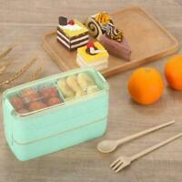 900ml tragbare Lunchbox für gesundes Material 3-lagige Weizenstroh-Foodbox C4X9