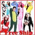 Hot Unisex Sleepwear Adult Pajamas Kigurumi Cosplay Costume Animal Onesie Cloth