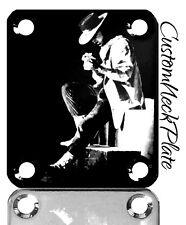 Black SRV Engraved Guitar Neck Plate fits Fender tele/strat/s