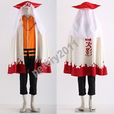 Naruto Uzumaki Cosplay costume cloak Naruto 12th Hat jacket trouser