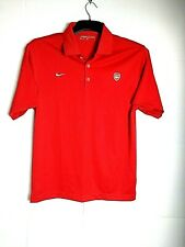 Mens Arsenal Football Top Polo Shirt Nike Size Small Chest 38""