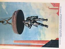 m17a1 ephemera 1920s book plate electro magnet lifts knight in armour