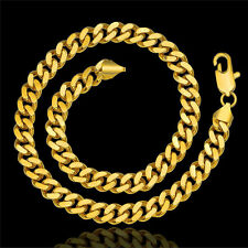 Heavy 100G 50cm 18k Yellow Gold Filled GF Curb Link 10mm Necklace N-422