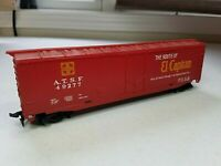 E3 HO Scale TRAIN Box CAR HORN HOOK ATSF SANTA FE RED 49277 Plug door wudq