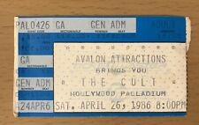 1986 The Cult / Divinyls Hollywood Palladium Concert Ticket Stub Fire Woman