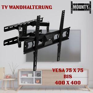 "TV Wandhalterung Wandhalter LCD LED Fernseher 32-65 Zoll schwenkbar neigbar 55"""