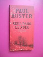 PAUL AUSTER SEUL DANS LE NOIR ACTES SUD DECEMBRE 2008 PARFAIT ETAT