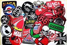 50 pcs Car Motorcycles Rock Punk Cartoon DIY Embroidered Cloth Iron on Patch #2